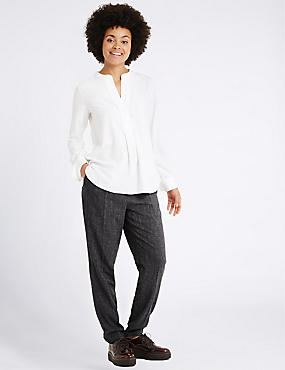Elasticated Tapered Leg Trousers