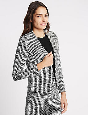 Textured Jersey Etched Jacket