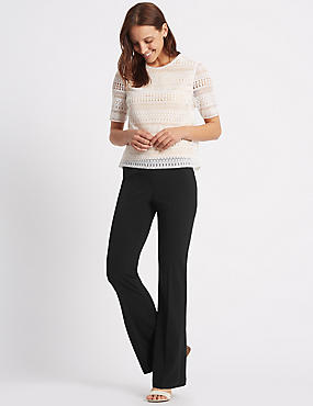 4 Way Stretch Slim Bootcut Trousers
