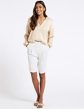Fluid Tailored Shorts, WINTER WHITE, catlanding