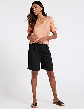 Fluid Tailored Shorts, BLACK, catlanding