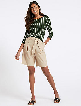 Cotton Rich Tailored Shorts , OYSTER, catlanding