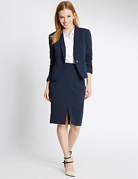 PETITE Grosgrain Trim Pencil Skirt