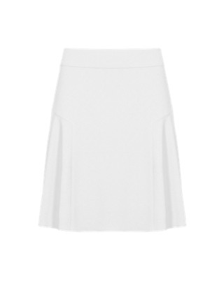 Crêpe Skater Mini Skirt Clothing