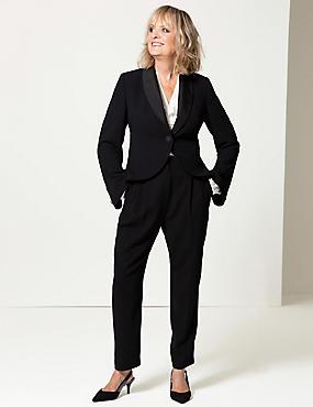 High Waist Trousers, BLACK, catlanding
