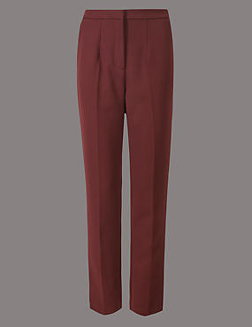 Straight Leg Trousers, DARK BURGUNDY, catlanding
