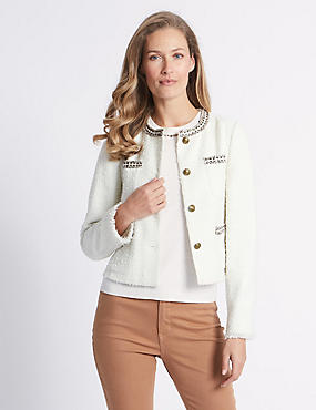 Textured Trophy Blazer