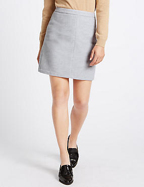 Mini A-Line Skirt with Wool