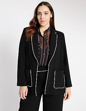 PLUS Contrast Piping Jacket
