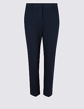 PETITE Slim Leg Trousers , NAVY, catlanding