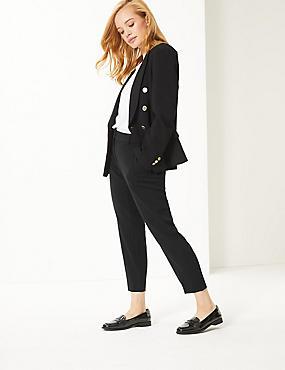 PETITE Slim Leg Trousers , BLACK, catlanding