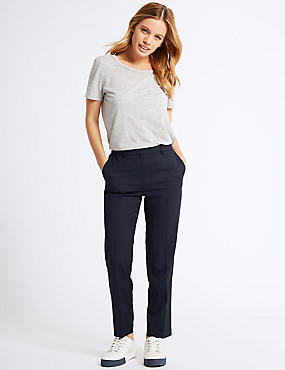 PETITE Wool Blend Cropped Trousers