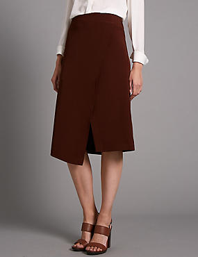 Tailored Fit Compact Skater Skirt