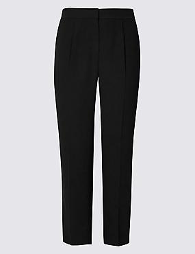 CURVE Straight Leg Trousers, BLACK, catlanding