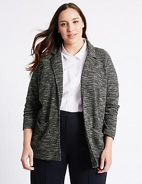PLUS Textured Twin Pocket Blazer