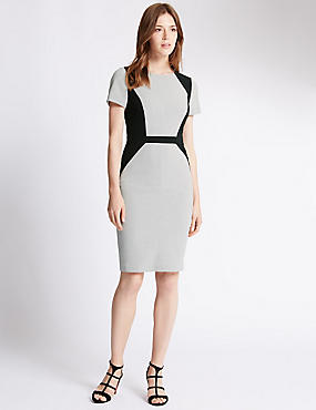 Tailored Fit Side Panel Shift Dress