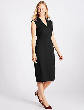 Ponte Shift Midi Dress