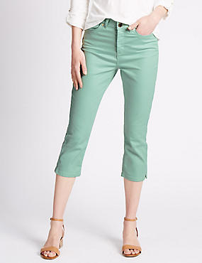 Roma Rise Cropped Denim Jeans