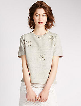 Pure Cotton Embellished Top
