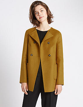 Swing Fit Double Breasted Coat