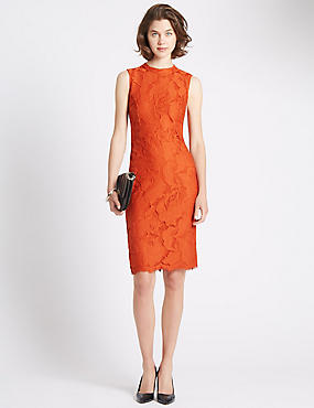 Tailored Fit Copper Lace Dress