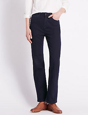Roma Rise Straight Leg Denim Jeans