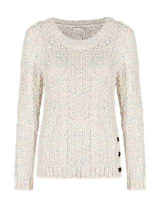 Cotton Rich Moss Stitch Jumper Clothing