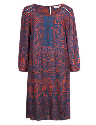 Mosaic Ombre Print Tunic Dress Clothing