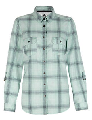 Cotton Rich Checked Shirt Clothing