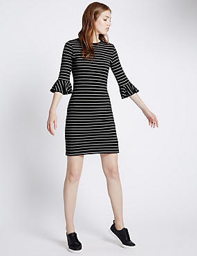 Slim Fit Frillcuff Sleeve Dress