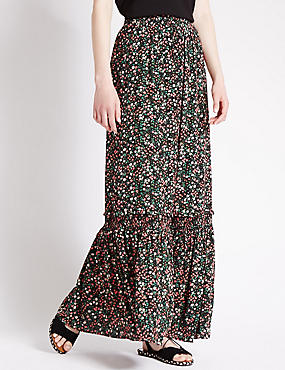 Ditsy Floral A-line Maxi Skirt