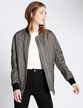 Loose Fit Santeen Bomber Jacket