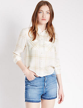 Pure Modal Checked Shirt