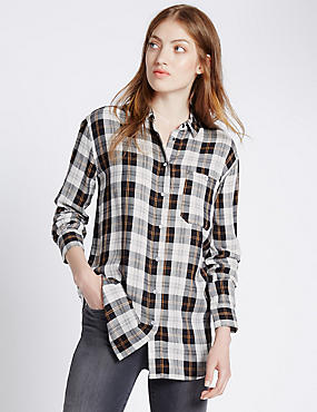Oversized Checked Shirt
