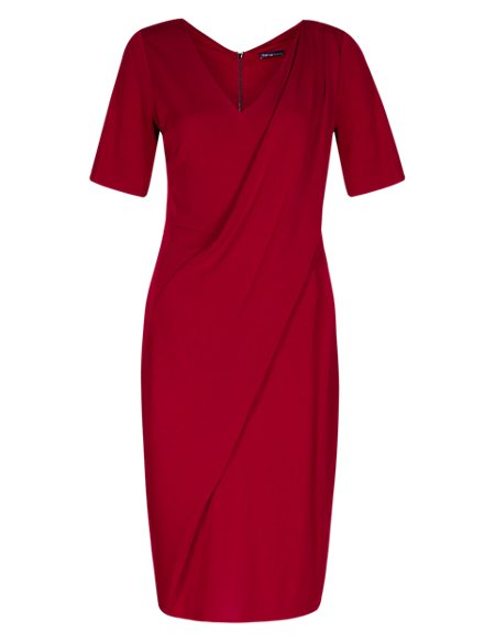 Twiggy for M&S Collection Drape Front Dress with Secret Support™