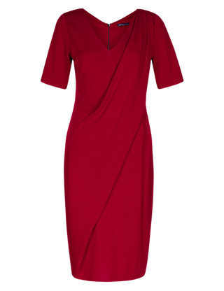 Twiggy for M&S Collection Drape Front Dress with Secret Support™ Clothing