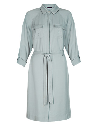 Twiggy for M&S Collection Belted Shirt Dress Clothing