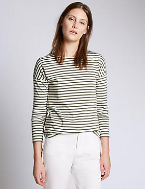 Cotton Rich Striped Top
