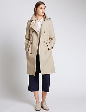 Bridget Belted Cotton Trench