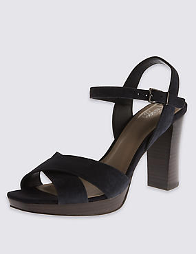 Suede Stain Away™ Platform Sandals with Insolia®