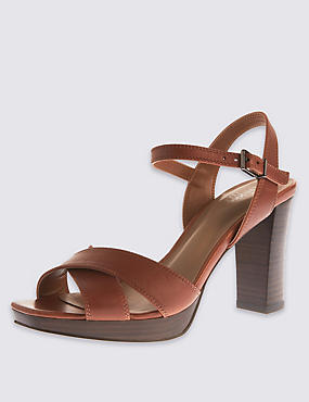 Leather Platform Sandals with Insolia®