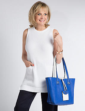 Pure Cotton Sleeveless Tunic Jumper