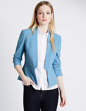 PETITE Step Front Jacket