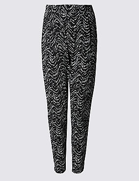 PLUS Wave Print Tapered Leg Trousers