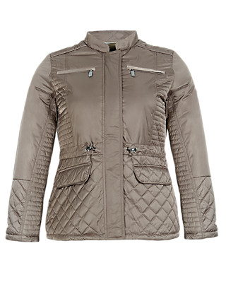 PLUS 4 Pockets Quilted Jacket with Thinsulate™ & Stormwear™ Clothing