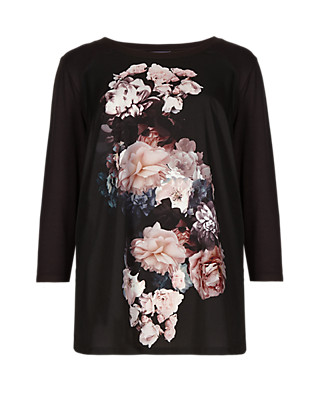 PLUS Floral Top Clothing