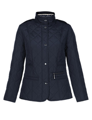 Petite Funnel Neck Quilted Jacket with Stormwear™ Clothing