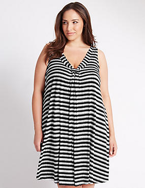 PLUS Striped Vest Shift Dress