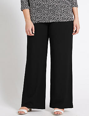 PLUS Knitted Wide Leg Trousers