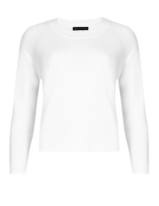 PETITE Long Sleeve Cropped Jumper Clothing